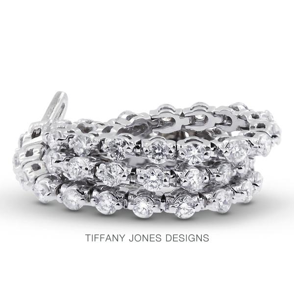 T. Jones Designs 7 Carat Total F-SI2 Excellent AGI Cert Round Natural Diamonds 14K White Gold Basket Womens Bracelet at Sears.com