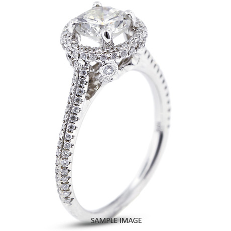 f1d5faea1 18k White Gold Halo Engagement Ring 1.85 carat total E-SI1 Round Brilliant  Diamond
