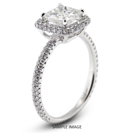ee9434de2 18k White Gold Halo Engagement Ring 1.84 carat total E-VS2 Princess Cut  Diamond