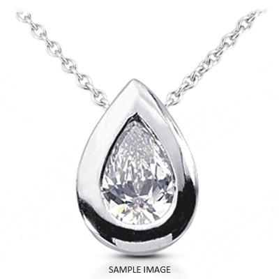 18k White Gold Solid Style Solitaire Pendant 1 14 Carat D Vs1 Pear Shape Diamond From Tiffany Jones Designs