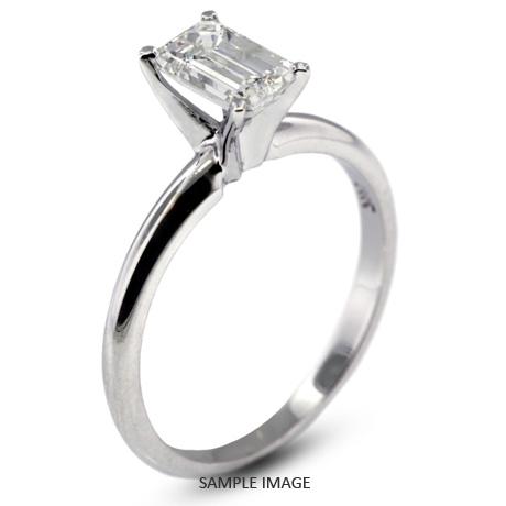 Platinum Classic Style Solitaire Engagement Ring 1.02ct D-VS1 Emerald Cut  Diamond