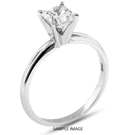 Platinum Classic Style Solitaire Engagement Ring 1 05ct D Si1 Square Radiant Cut Diamond