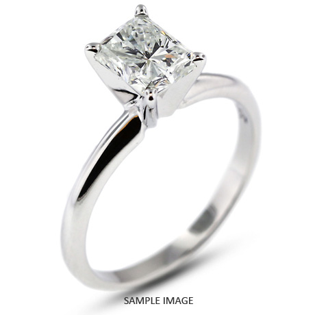 Platinum Classic 1 11ct H VS1 Rectangular Princess Cut from