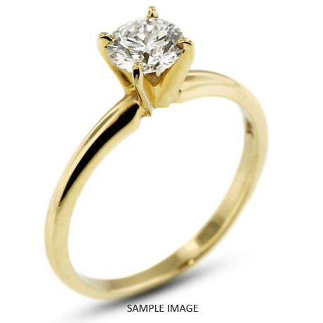 b90f28050 14k Yellow Gold Classic Style Solitaire Engagement Ring 1.25ct E-VS2 Round  Brilliant Diamond