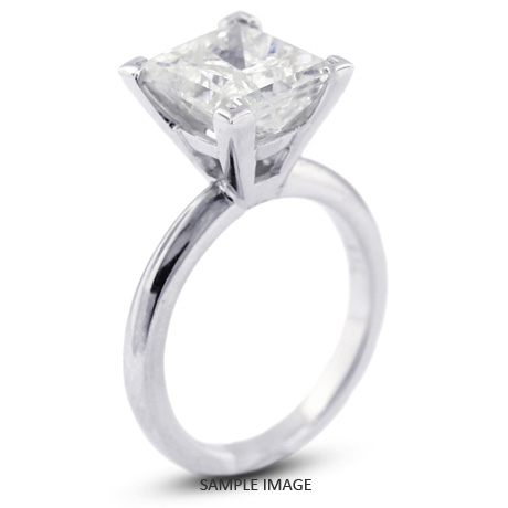 Platinum Cathedral Style Solitaire Engagement Ring 0 85ct D Si1 Square Radiant Cut Diamond