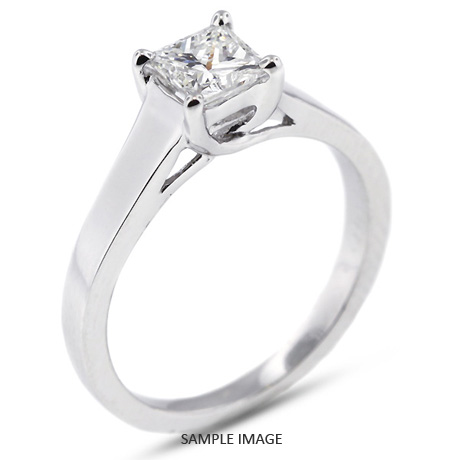 Platinum Trellis 0 76ct D VS1 Princess Cut from Tiffany Jones Designs