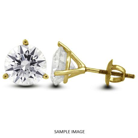 39d752b1a5e 1.42 Carat tw. Round Brilliant Diamond Martini Style Stud Earrings 14k  Yellow Gold (D-SI2)