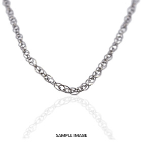 14k White Gold Cable Chain