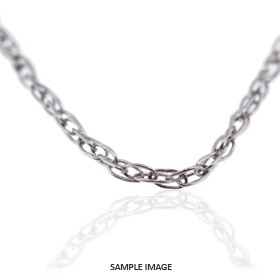 14k White Gold Carded Rope Chain
