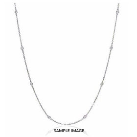 2.50 Carat tw. 10 Round Brilliant Diamonds set in 18k White Gold Diamond by the Yard Necklace (G-SI1)