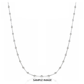 3.00 Carat tw. 30 Round Brilliant Diamonds set in 18k White Gold Diamond by the Yard Necklace (H-SI2)