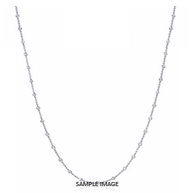 1.70 Carat tw. 34 Round Brilliant Diamonds set in 18k White Gold Diamond by the Yard Necklace (F-VS2)