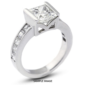 14k White Gold Engagement Ring Setting with Diamonds (2.56ct. tw.)
