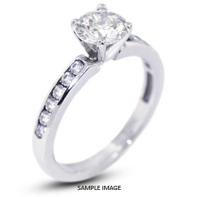 14k White Gold Engagement Ring 1.04 carat total D-SI1 Round Brilliant Diamond