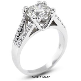 14k White Gold Engagement Ring 1.82 carat total D-SI1 Round Brilliant Diamond