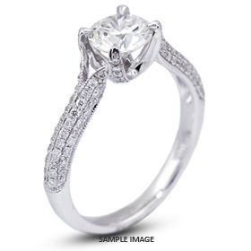 18k White Gold Engagement Ring 1.79 carat total F-SI2 Round Brilliant Diamond