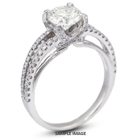 18k White Gold Engagement Ring Setting with Diamonds (1.41ct. tw.)