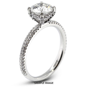 18k White Gold Engagement Ring 1.61 carat total F-SI1 Round Brilliant Diamond