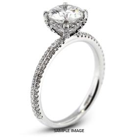 18k White Gold Engagement Ring 1.82 carat total D-VS2 Round Brilliant Diamond