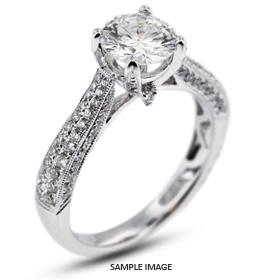 18k White Gold Engagement Ring 1.91 carat total D-SI2 Round Brilliant Diamond