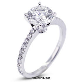 18k White Gold Engagement Ring Setting with Diamonds (1.07ct. tw.)