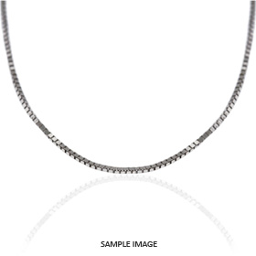 14k White Gold Small Box Chain
