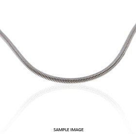 14k White Gold Snake Chain