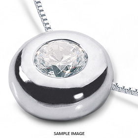 14k White Gold Solid Style Solitaire Pendant 1.05 carat D-VS2 Round Brilliant Diamond