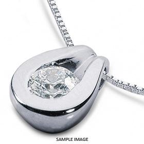 14k White Gold Solid Style Solitaire Pendant 1.76 carat H-SI1 Round Brilliant Diamond
