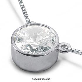 14k White Gold Solid Style Solitaire Pendant 0.53 carat D-SI1 Round Brilliant Diamond