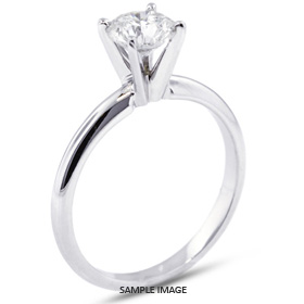Platinum Classic Style Solitaire Engagement Ring 1.51ct D-IF Round Brilliant Diamond
