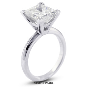 Platinum Cathedral Style Solitaire Engagement Ring 0.81ct F-VS1 Princess Cut Diamond