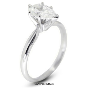 Platinum Classic Style Solitaire Engagement Ring 0.72ct E-VS2 Pear Shape Diamond