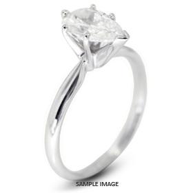 Platinum Classic Style Solitaire Engagement Ring 0.72ct E-VS2 Pear Shape Diamond