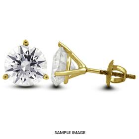 1.76 Carat tw. Round Brilliant Diamond Martini Style Stud Earrings 14k Yellow Gold (I-SI1)