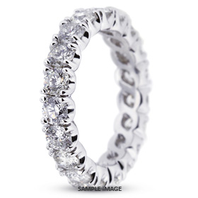 14k White Gold Eternity Band 0.69 carat total G-SI1 Round Brilliant Diamond