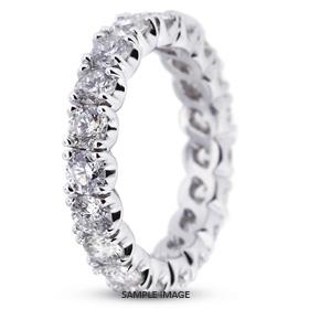 14k White Gold Eternity Band 0.69 carat total G-SI1 Round Brilliant Diamond
